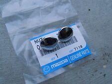 Mazda 1200 1300 R100 323 RWD rear quarter window chrome nuts NEW