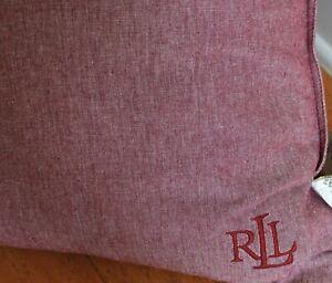 """NWT Ralph Lauren Logo RLL Light Purple Monogram Down Throw Pillow 20"""" x 20"""""""