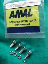 622/171 AMAL mk 2 concentrique flottant carburateur bol 4 boulons vis+rondelles