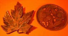 """2 Pieces of Syroco - SyrocoWood Center Piece 9 1/2"""" dia, & Wall Hanger Leaf"""
