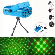 1X Mini Stage Laser Projector R&G DJ Disco Club Xmas Party Lighting Show Lights