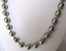 collier bijou vintage années 1970 perles métal couleur argent poli brillant *222