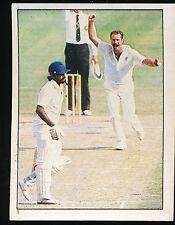 1984 Scanlens Cricket Sticker unused number 1 Dennis Lillee and Miandad