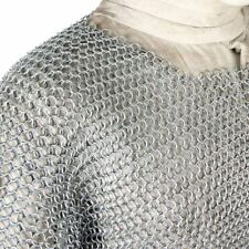 Medieval Warrior Armor Long T-Shirt Chainmail Renaissance Haubergeon-Replica