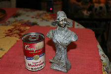 Antique Metal Statue Of Victorian Woman-Small Size-Worn Aged Patina-LQQK