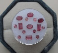 Pink Tourmaline Natural Gem Mix Loose Faceted Parcel Lot over 3 carats