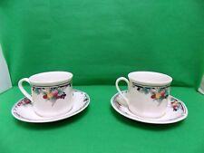 Royal Doulton Autumn's Glory Tea Cups & Saucers x 2