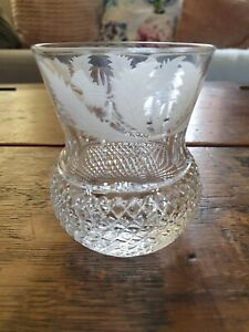 "Single Vintage Edinburgh Crystal Thistle Cut 3 1/8""  Whisky Glass"