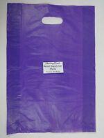 "200 Qty. 12"" x 3"" x 18"" Purple High-Density Plastic Merchandise Bag w /  Handle"