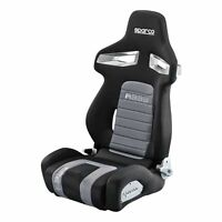 Sparco R333 Forza Deep Bolster Reclining Bucket Sports Seat in Black/Grey