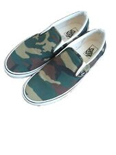 VANS classic Slip On Woodland Camo Camouflage Army Green mens 12 Skate shoes
