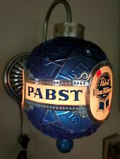 Vintage Rare Pbr Pabst Blue Ribbon Spinning Faux Crystal Wall Sconce