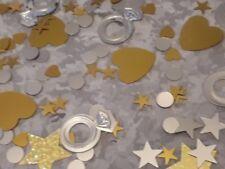 Lot de + 250 paillettes mariage étoiles argentées et dorées deco table ou scrap