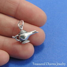 925 Sterling Silver Aladdin's Lamp Charm - Magie Genie Pendant NEW