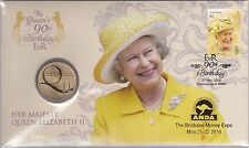 #107/600 2016 ANDA Brisbane Show Queens 90th Birthday $1 PNC Limited LOW NUMBER