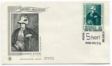 1968 Argentina 50th Death Anniversary of Eduardo Sivori First Day Cover