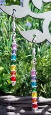 Chakra Gay Pride LGBT rainbow dangle earrings