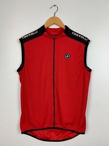 Men's Vintage Castelli Cycling Vest Jersey Red Size XXXL