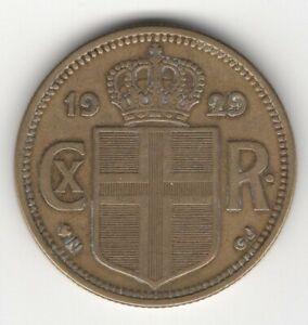 SCARCER 1929 ICELAND 2 KRONUR
