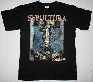 SEPULTURA CHAOS A.D. SOULFLY CAVALERA CONSPIRACY SARCOFAGO NEW BLACK T-SHIRT