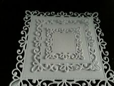 6 sets of 3  intricate  square die cut shapes
