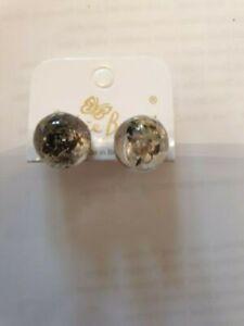 Jackie Brazil Small ball stud SEAWEED resin earrings BNWT