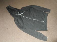 Green coloured zip front hoodie - size S