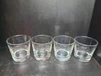 4  Vintage Heavy Thick Bottom Libbey Bar Ware Glasses Bar-Ware Rocks / Whiskey