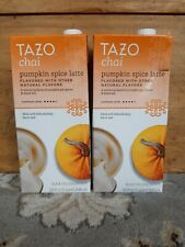 TAZO Chai PUMPKIN SPICE Latte 32 oz Tea Concentrate Lot of 2 Containers - Sealed