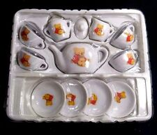 Mini Doll Size Porcelain tea set 13 pcs Teddy Bear The beautiful Series in Box