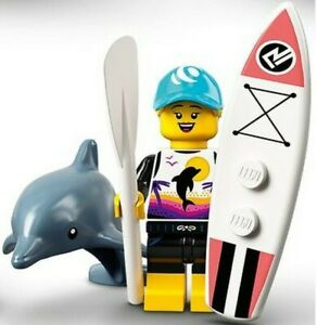 LEGO SERIES 21 MINIFIGURE PADDLE SURFER DOLPHIN TRAINER 71029