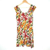 Vintage Casuals Womens Floral Autumn Dress Size 10 Made in Australia