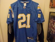 San Diego  Chargers # 21 Tomlinson Football Jersey Size Youth L By Reebok