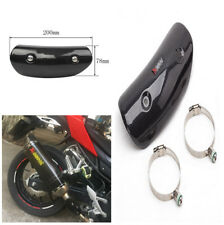 Stylish 100% Real Carbon Fiber Protector Motorcycle Exhaust Heat Shield Cover