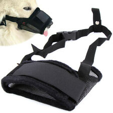 Pets Adjustable For Dog Safety Muzzle Nylon Comfortable Soft Anti Bark Bite Chew