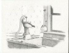 VINTAGE COUNTRY KITCHEN ANTIQUE WATER PUMP DIPPER SINK TILE COUNTER CARD PRINT