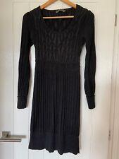 Mint Velvet Dress UK Size 12 Womens Ladies Black Viscose Cotton Pattern