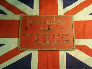 Vintage Weatherfoil of Slough Metal Wall Plaque RAF Brize Norton, UK