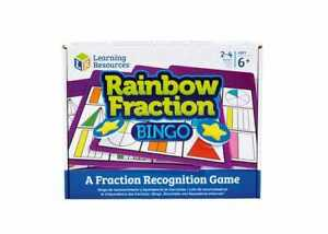 RAINBOW FRACTIONs BINGO childrens maths primary school learning resource   BNIB