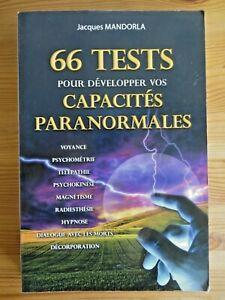 66 tests pour développer vos capacités paranormales, Jacques Mandorla, 2013