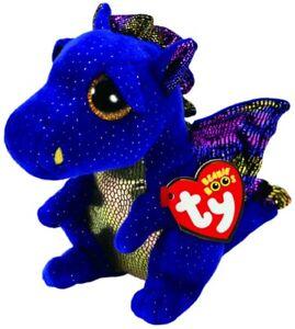 NEW Beanie Boos Reg Saffire Blue Dragon from Mr Toys