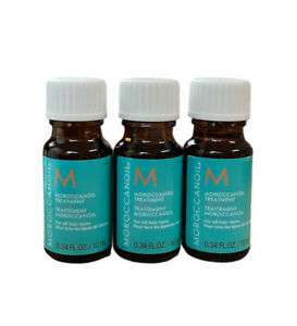 Moroccan Oil Treatment Hair Lot of 3 (0.34 oz) Each New Fast Free Shipping