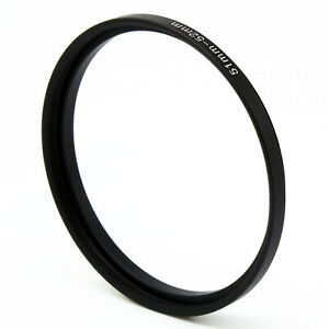 51-52 51mm-52mm Step Up Filter Ring 50mm x0.75 Male to 52mm x0.75 Female adapter