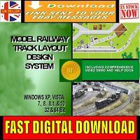 MODEL RAILWAY TRACK LAYOUT CAD DESIGNER SOFTWARE MULTI GAUGE HORNBY DOWNLOAD NEW