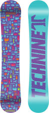 BRAND NEW Technine SKULL Snowboard 144cm PURPLE TECH9 DS 17 LIMITED WOMENS