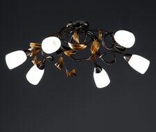 Plafonnier Style Campagne Lustre Lampe suspension Couleur rouille antique 32641