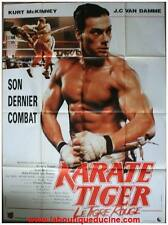 KARATE TIGER Affiche Cinéma ORIGINALE / Movie Poster JEAN CLAUDE VAN DAMME