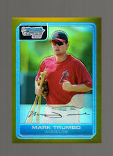 1/1-2006 Bowman Chrome #BC14 Mark Trumbo (RC Gold Refractors 44/50) Rookie