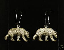 Pewter Grizzly Bear Dangle Earrings by Empire Pewter
