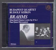 RUDOLF SERKIN CD NEW BRAHMS BUDAPEST QUARTET